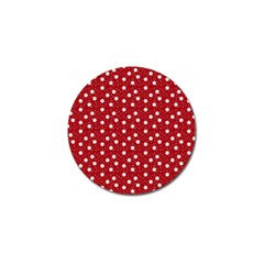 Floral Dots Red Golf Ball Marker (4 Pack)