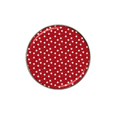 Floral Dots Red Hat Clip Ball Marker (4 Pack)