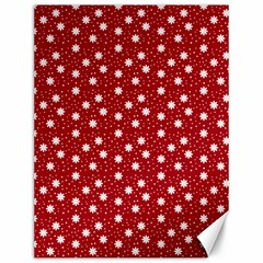 Floral Dots Red Canvas 12  X 16