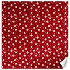 Floral Dots Red Canvas 16  X 16