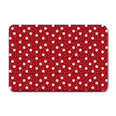 Floral Dots Red Small Doormat