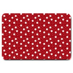 Floral Dots Red Large Doormat