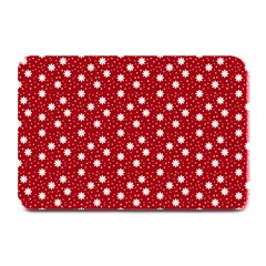 Floral Dots Red Plate Mats