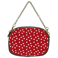 Floral Dots Red Chain Purses (one Side)