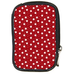 Floral Dots Red Compact Camera Cases