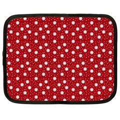 Floral Dots Red Netbook Case (xxl)