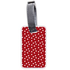 Floral Dots Red Luggage Tags (one Side)