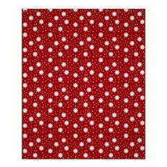 Floral Dots Red Shower Curtain 60  X 72  (medium)