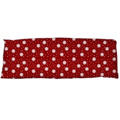 Floral Dots Red Body Pillow Case (dakimakura)