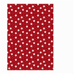 Floral Dots Red Small Garden Flag (two Sides)