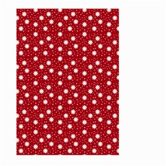 Floral Dots Red Large Garden Flag (two Sides)