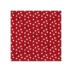 Floral Dots Red Acrylic Tangram Puzzle (4  X 4 )
