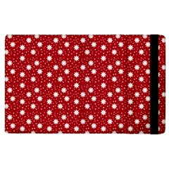 Floral Dots Red Apple Ipad 2 Flip Case