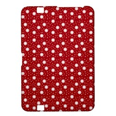 Floral Dots Red Kindle Fire Hd 8 9