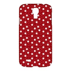 Floral Dots Red Samsung Galaxy S4 I9500/i9505 Hardshell Case