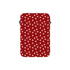 Floral Dots Red Apple Ipad Mini Protective Soft Cases