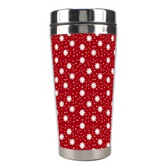 Floral Dots Red Stainless Steel Travel Tumblers