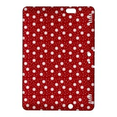 Floral Dots Red Kindle Fire Hdx 8 9  Hardshell Case