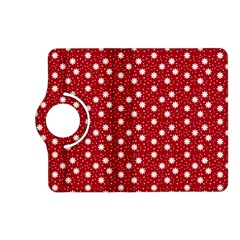 Floral Dots Red Kindle Fire Hd (2013) Flip 360 Case