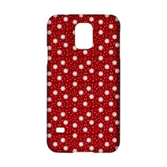 Floral Dots Red Samsung Galaxy S5 Hardshell Case