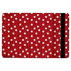 Floral Dots Red Ipad Air Flip