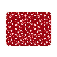 Floral Dots Red Double Sided Flano Blanket (mini)