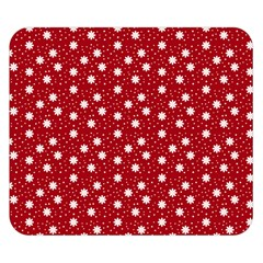 Floral Dots Red Double Sided Flano Blanket (small)