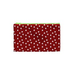 Floral Dots Red Cosmetic Bag (xs)