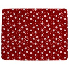Floral Dots Red Jigsaw Puzzle Photo Stand (rectangular)