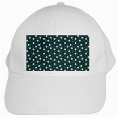Floral Dots Teal White Cap