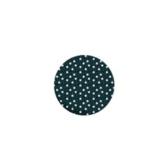Floral Dots Teal 1  Mini Buttons