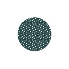 Floral Dots Teal Golf Ball Marker