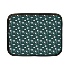 Floral Dots Teal Netbook Case (small)