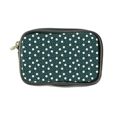 Floral Dots Teal Coin Purse