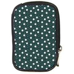 Floral Dots Teal Compact Camera Cases