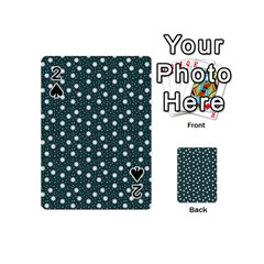 Floral Dots Teal Playing Cards 54 (mini)