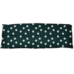 Floral Dots Teal Body Pillow Case Dakimakura (two Sides)