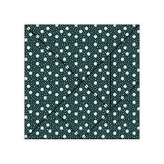 Floral Dots Teal Acrylic Tangram Puzzle (4  X 4 )