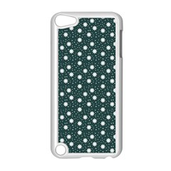 Floral Dots Teal Apple Ipod Touch 5 Case (white)