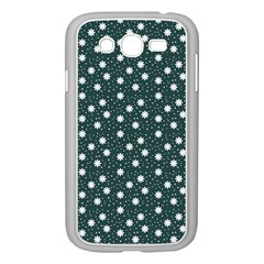 Floral Dots Teal Samsung Galaxy Grand Duos I9082 Case (white)