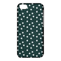 Floral Dots Teal Apple Iphone 5c Hardshell Case