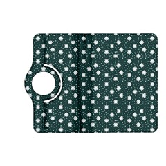Floral Dots Teal Kindle Fire Hd (2013) Flip 360 Case