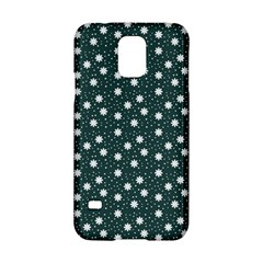 Floral Dots Teal Samsung Galaxy S5 Hardshell Case