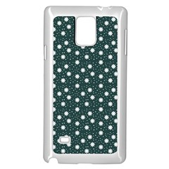Floral Dots Teal Samsung Galaxy Note 4 Case (white)