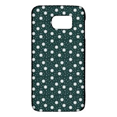 Floral Dots Teal Galaxy S6