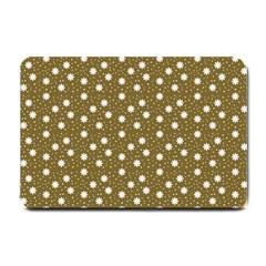 Floral Dots Brown Small Doormat