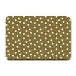 Floral Dots Brown Small Doormat  24 x16 Door Mat - 1