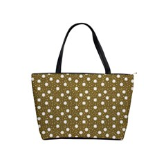 Floral Dots Brown Shoulder Handbags