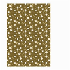 Floral Dots Brown Small Garden Flag (two Sides)