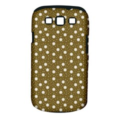 Floral Dots Brown Samsung Galaxy S Iii Classic Hardshell Case (pc+silicone)